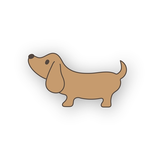 Simon Says Stamp LIL' CRITTERS DACHSHUND Wafer Die sssd112156 Send Happiness Preview Image