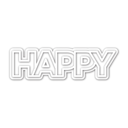 CZ Design CHUNKY HAPPY Wafer Dies czd93 Send Happiness Preview Image