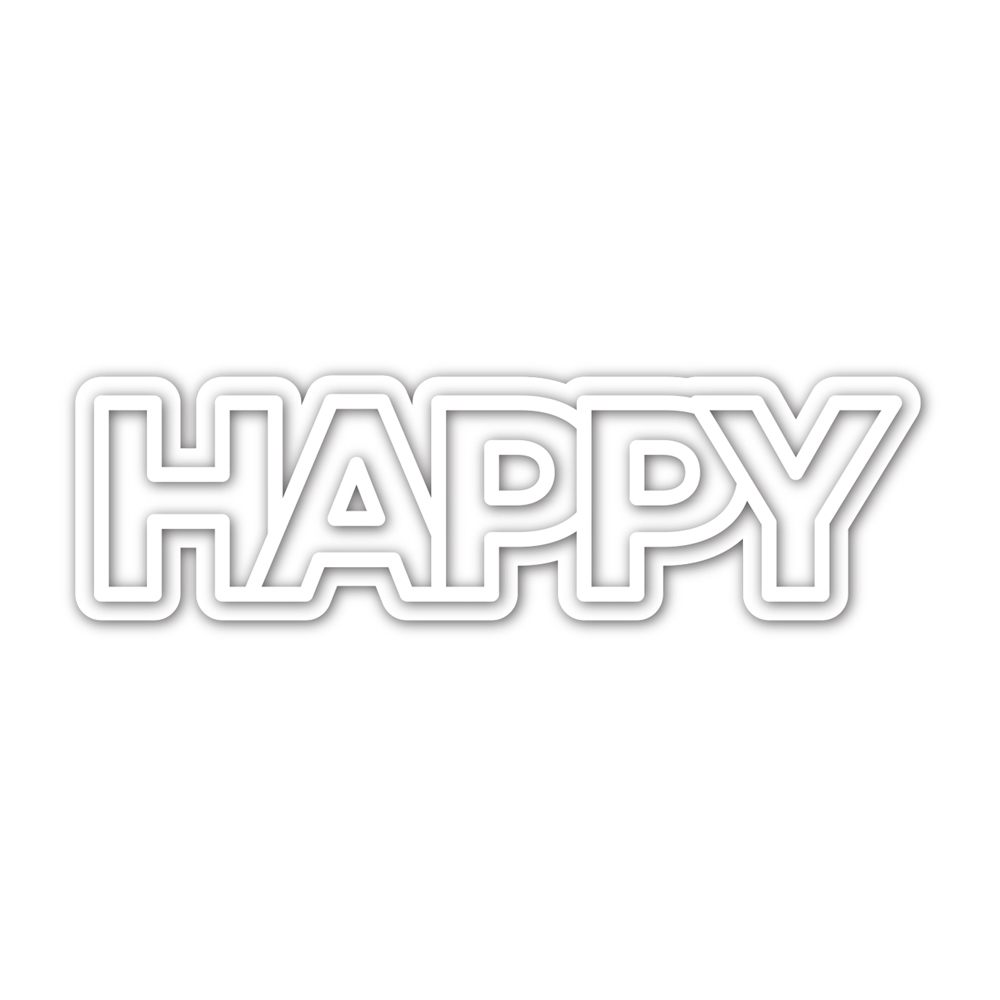 CZ Design CHUNKY HAPPY Wafer Dies czd93 Send Happiness zoom image