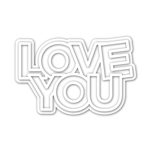 CZ Design CHUNKY LOVE YOU Wafer Dies czd94 Send Happiness Preview Image