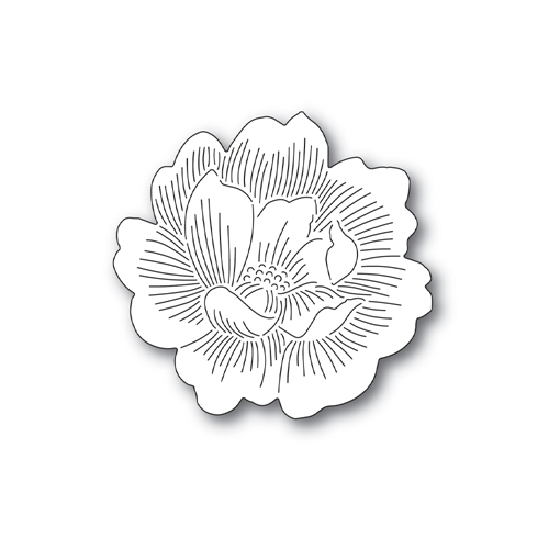 Simon Says Stamp ETCHED PEONY BLOSSOM Wafer Die s692 Send Happiness Preview Image