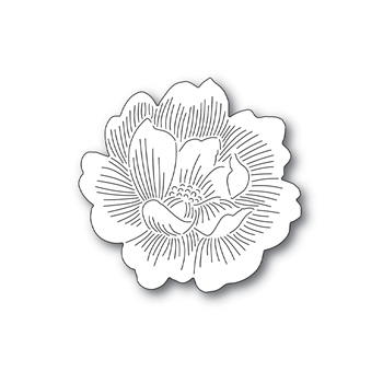 Simon Says Stamp ETCHED PEONY BLOSSOM Wafer Die s692 Send Happiness