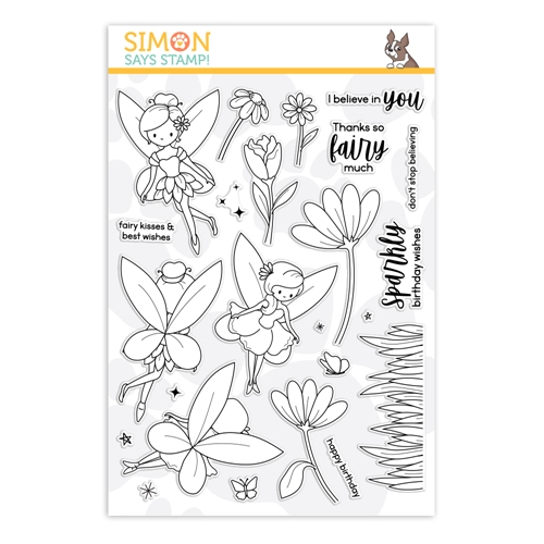 Simon Says Clear Stamps FAIRYTALE SPINNERS sss202140 Send Happiness Preview Image