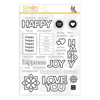 CZ Design Clear Stamps HAPPY DAYS czs54 Send Happiness