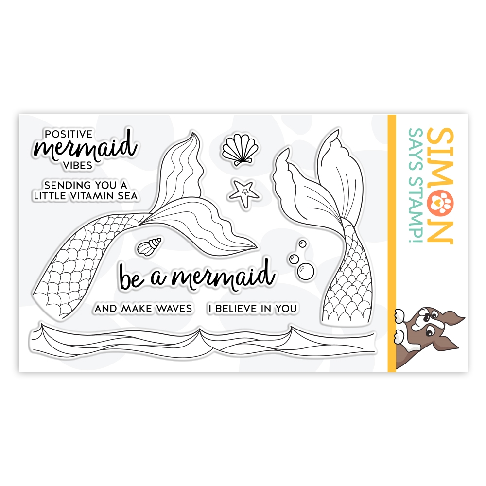 Simon Says Clear Stamps BE A MERMAID sss102129 Send Happiness zoom image