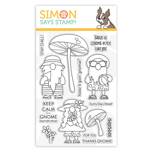 Simon Says Clear Stamps CHILLIN GNOMES sss102136 Send Happiness Preview Image