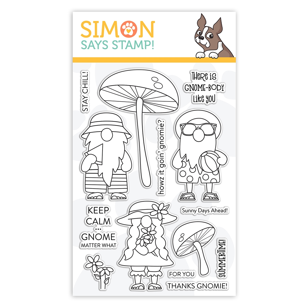 Simon Says Clear Stamps CHILLIN GNOMES sss102136 Send Happiness zoom image