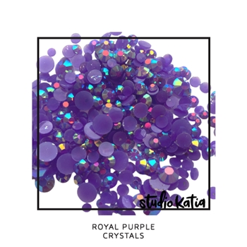 Studio Katia ROYAL PURPLE Crystals sk2461