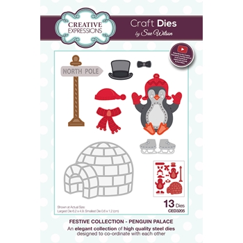 Creative Expressions PENGUIN PALACE Sue Wilson Festive Collection Dies ced3205