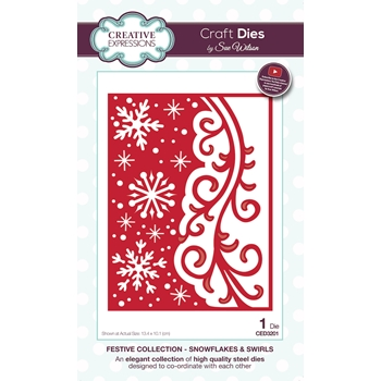Creative Expressions SNOWFLAKES AND SWIRLS Sue Wilson Festive Collection Dies ced3201