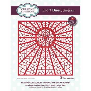 Creative Expressions MOSAIC BACKGROUND Sue Wilson Festive Collection Dies ced3200
