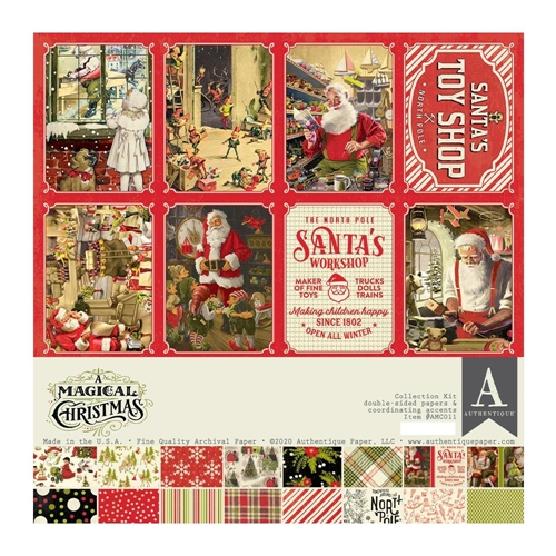 Authentique A MAGICAL CHRISTMAS 12 x 12 Collection Kit amc011 Preview Image