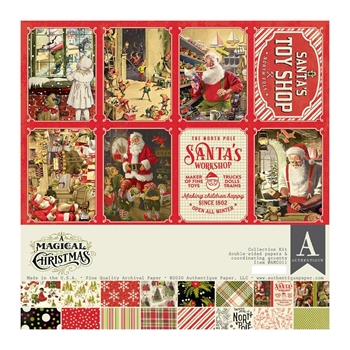 Authentique A MAGICAL CHRISTMAS 12 x 12 Collection Kit amc011