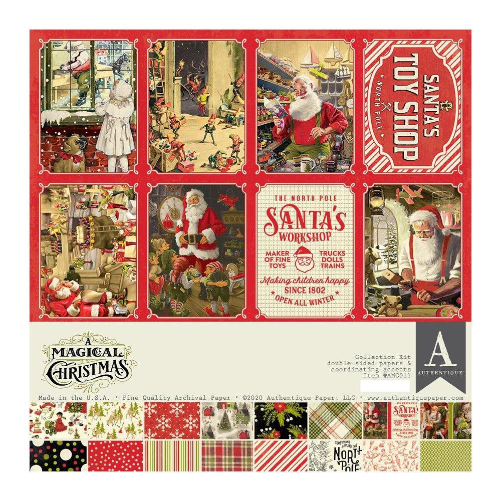Authentique A MAGICAL CHRISTMAS 12 x 12 Collection Kit amc011 zoom image