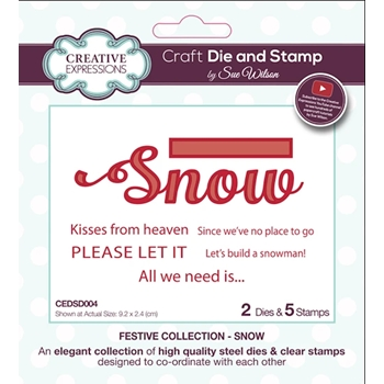 Creative Expressions SNOW Sue Wilson Festive Collection Dies and Stamps cedsd004