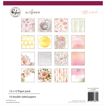 PinkFresh Studio Altenew CELEBRATE 12 x 12 Paper Pack pfrc300120