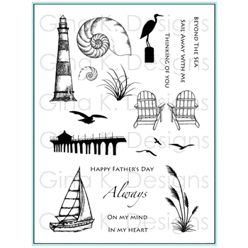 Gina K Designs BY THE SEA 2 Clear Stamps 0434