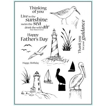 Gina K Designs BY THE SEA 1 Clear Stamps 0441
