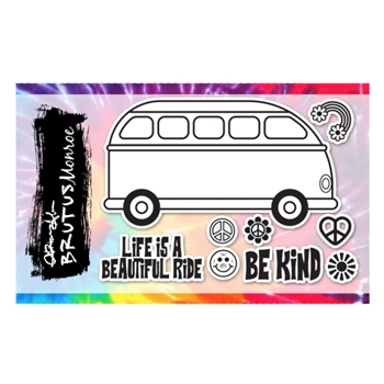 Brutus Monroe PARTY BUS Clear Stamps bru4372