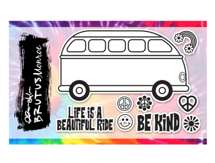 Brutus Monroe PARTY BUS Clear Stamps bru4372 zoom image