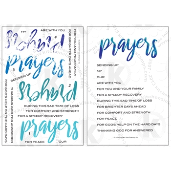Kitchen Sink Stamps WATERCOLOR PRAYERS kss053