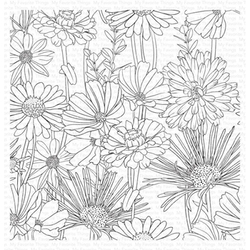 My Favorite Things FLOWER FIELD Cling Background Stamp bg126