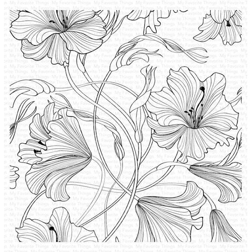 My Favorite Things HARMONIOUS HIBISCUS Cling Background Stamp bg127 Preview Image