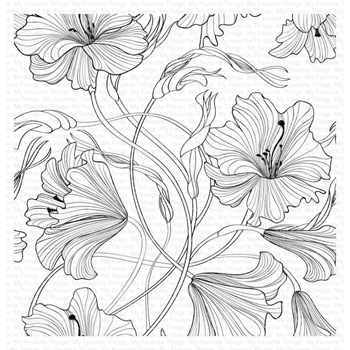 My Favorite Things HARMONIOUS HIBISCUS Cling Background Stamp bg127