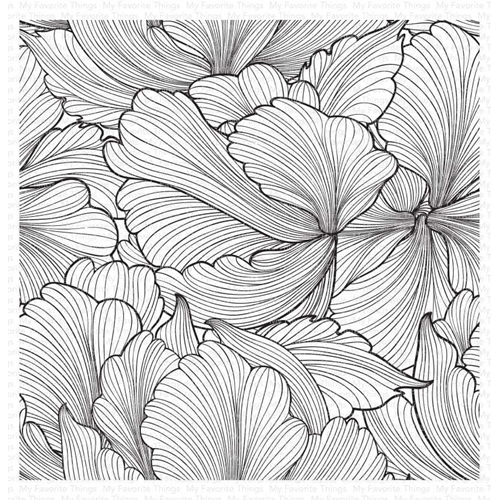 My Favorite Things FLOATING PETALS Cling Background Stamp bg128 Preview Image