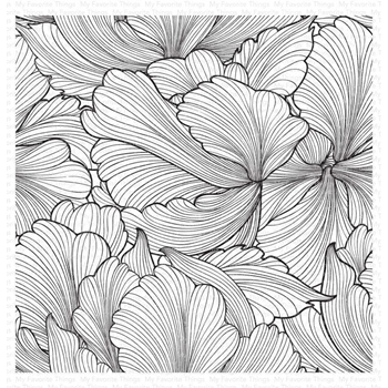 My Favorite Things FLOATING PETALS Cling Background Stamp bg128