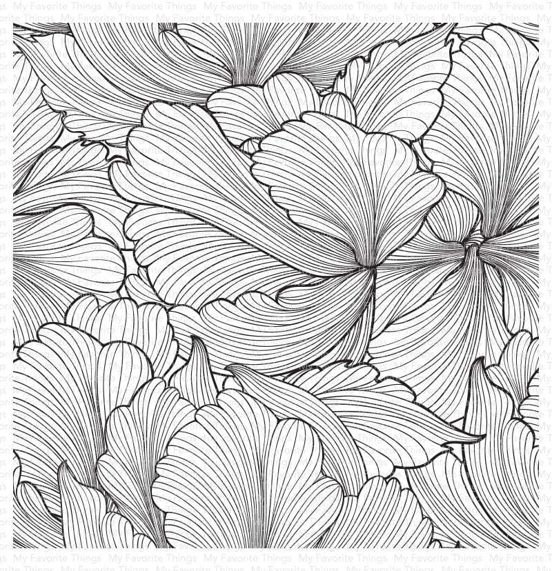 My Favorite Things FLOATING PETALS Cling Background Stamp bg128 zoom image