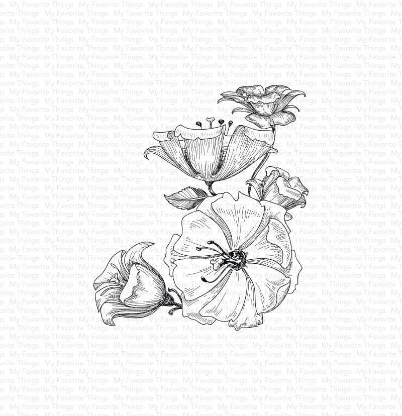 My Favorite Things FLORAL FANTASY Cling Stamp bg118 zoom image
