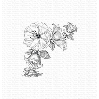 My Favorite Things CORNER BLOOMS Cling Stamp bg124