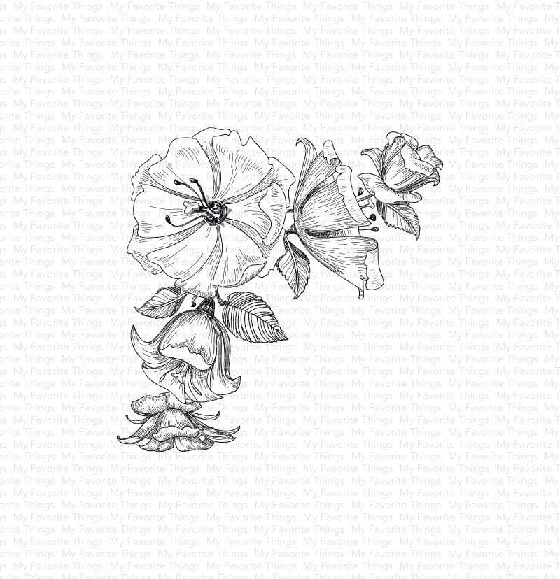 My Favorite Things CORNER BLOOMS Cling Stamp bg124 zoom image