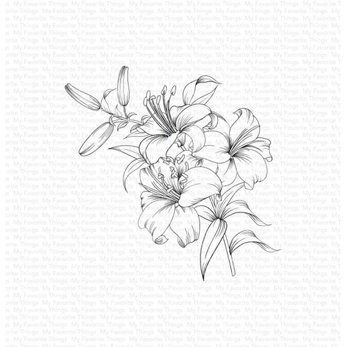 My Favorite Things LAVISH LILLIES Cling Stamp bg129 Preview Image