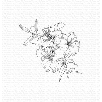 My Favorite Things LAVISH LILLIES Cling Stamp bg129