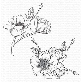 My Favorite Things MAGNOLIA BLOSSOMS Cling Stamp bg122