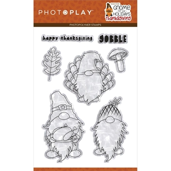 PhotoPlay GNOME FOR THANKSGIVING Clear Stamps gnt2266