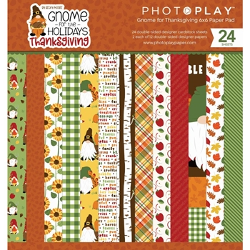 PhotoPlay GNOME FOR THANKSGIVING 6 x 6 Paper Pack gnt2269