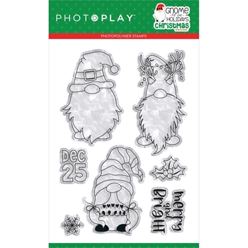 PhotoPlay GNOME FOR CHRISTMAS Clear Stamps gnc2253