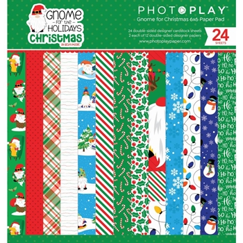PhotoPlay GNOME FOR CHRISTMAS 6 x 6 Paper Pack gnc2256