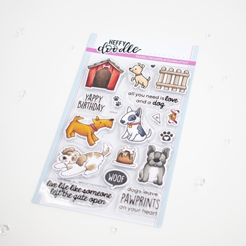 Heffy Doodle WHO LET THE DOGS OUT Clear Stamps hfd0300