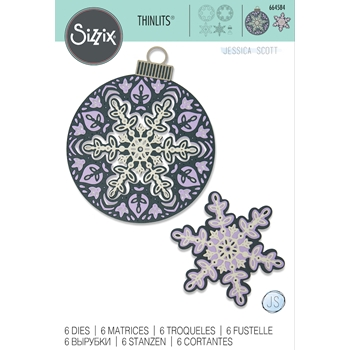 Sizzix LAYERED SNOWFLAKE Thinlits Dies 664584