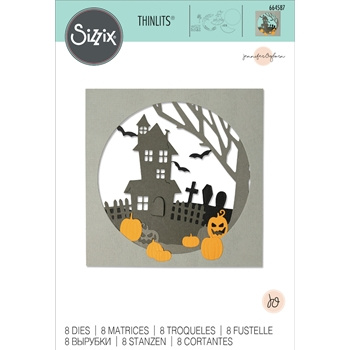 Sizzix HAUNTED HILLS Thinlits Dies 664587