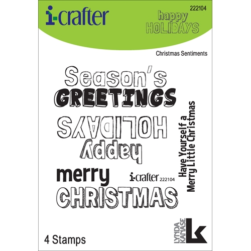 i-Crafter CHRISTMAS SENTIMENTS Clear Stamps 222104* Preview Image