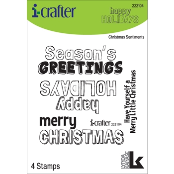 i-Crafter CHRISTMAS SENTIMENTS Clear Stamps 222104*