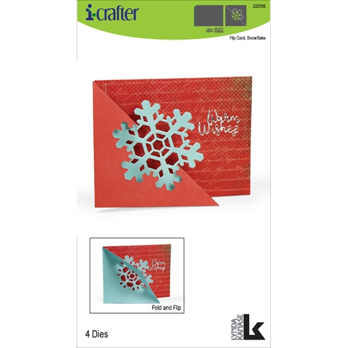 i-Crafter FLIP CARD SNOWFLAKE Dies 222106* Preview Image