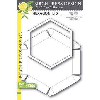Birch Press Design HEXAGON LID Craft Dies 57344