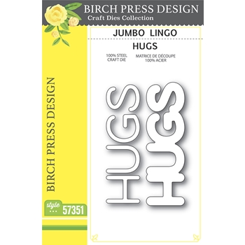 Birch Press Design JUMBO LINGO HUGS Craft Dies 57351