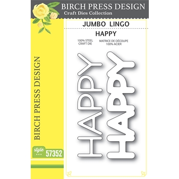 Birch Press Design JUMBO LINGO HAPPY Craft Dies 57352